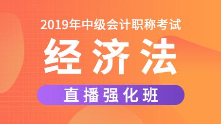 2019年中级经济法强化班第四讲